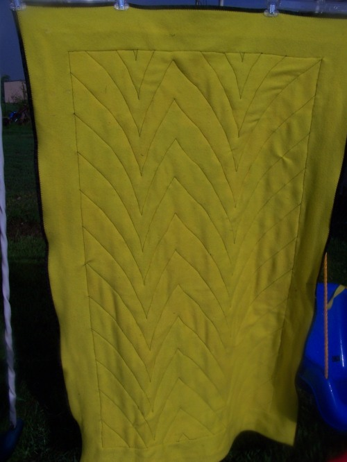 yellow fleece back