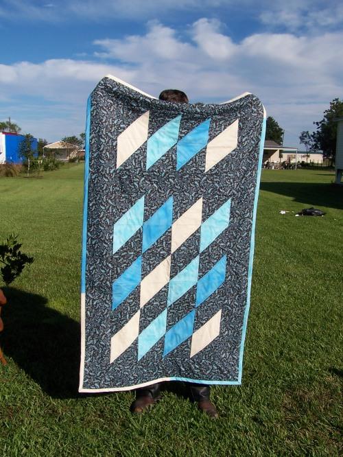 long crib quilt--$75