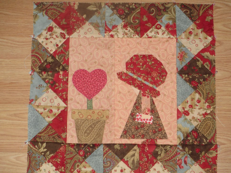 sunbonnet sue february dot