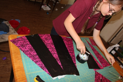 Taping the triangles together