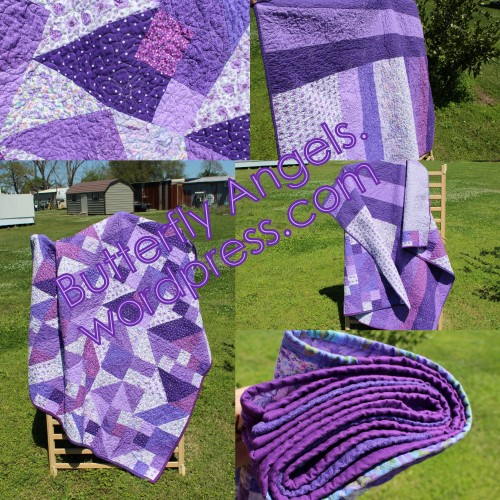 Purple Patchwork Collage