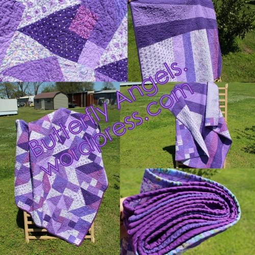 Purple Patchwork Collage