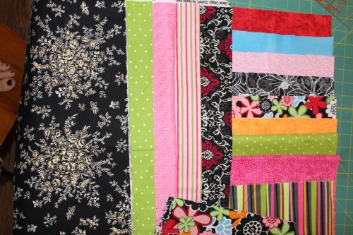 fabrics for a raggy quilt